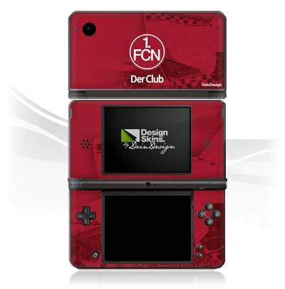 DeinDesign Skin kompatibel mit Nintendo DSi XL Aufkleber Sticker Folie 1. FC Nürnberg FCN Fanartikel