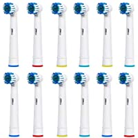 CASE & GLASS 8 RECAMBIOS Cepillo ELECTRICO Compatible Braun Oral-B, VITALY Precision Clean, White Clean, Sensitive Clean, Professional Care,EB-17A / SB-17A (2 Kits x 4 PCS) Dupont Mayor Limpieza …