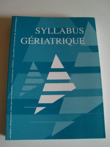 Syllabus gériatrique
