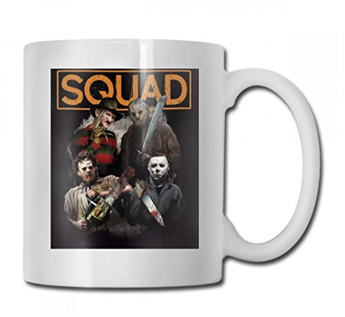 Freddy Jason Michael Myers and Leatherface Squad Hall Ceramic Coffee Mug Tea Cup