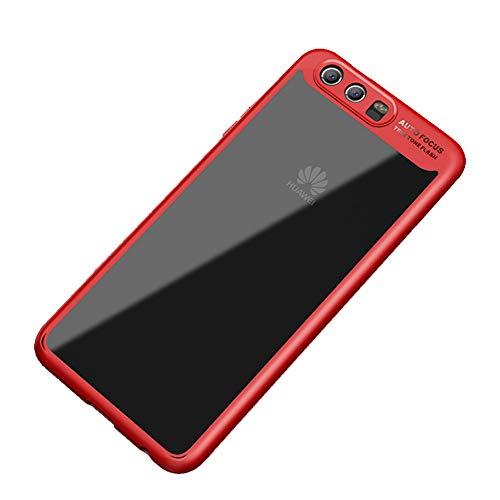 Vanki Cover Huawei P10 Plus, TPU Silicone Custodia Morbida Cristallo Trasparente Sottile Bordo Proteggi Copertura Completa Cover Case per Huawei P10 Plus (Huawei P10 Plus, Rosso)