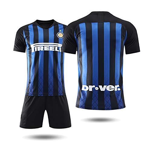 COOLBOY Herren Breathe Inter Mailand Home 18-19 Trikot und Shorts, Geschenke für Kinder Erw. Jungen Fußball T-Shirt Bedrucken,28