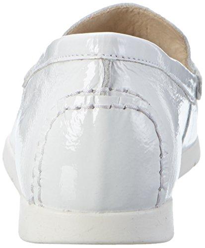 Caprice 24251, Mocassini Donna Bianco (White Patent)