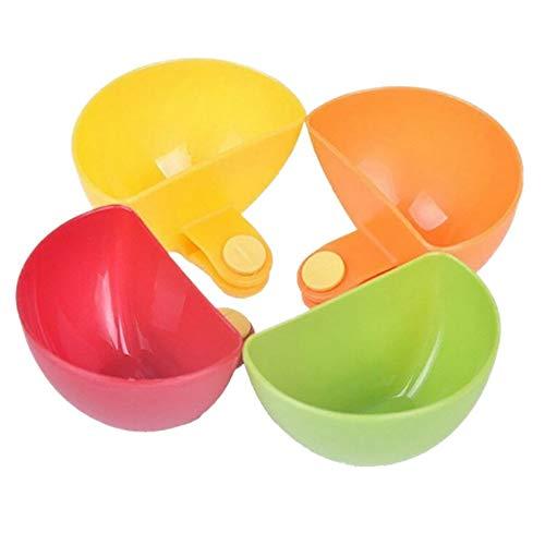 Tragbares Gerät 4 Schüssel Schüssel Set - Server Caddy - Gewürze, Nüsse, EIS, Snacks, Bonbonschüsseln Geeignet für studentische Büroangestellte und SPOR -