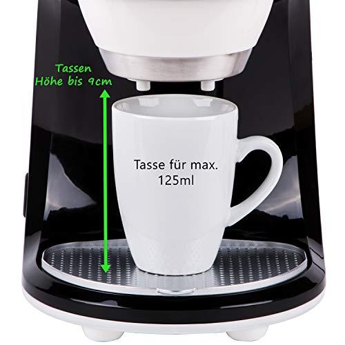 450W Design 2 Tassen Kaffeemaschine mit 2 Porzellantassen Ein / Zwei Tassen - 2