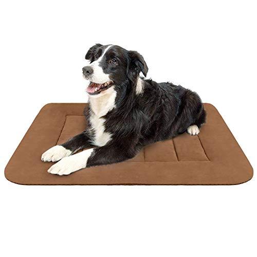 Hero Dog Colchoneta Medio Suave para Perros - 100% Lavable A Máquina, Colchón De Lujo Antideslizante De Café M