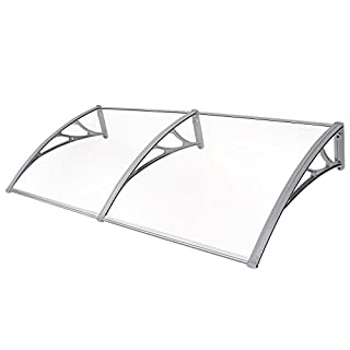 SONGMICS GVH158 Canopy 155 x 75 cm Transparent 3 mm Thick