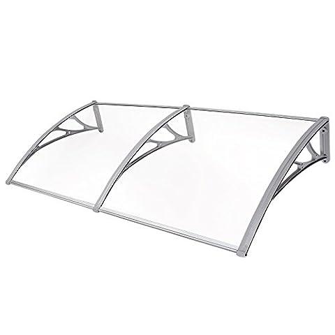 Songmics Door Canopy 155 x 75 cm Awning Gazebo 3 mm Soild Board GVH158