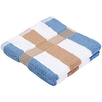7dd301c2dc Gözze Handtuch 2er-Set, 100% Baumwolle, 50 x 100 cm, New York, Streifen,  Marone/Weiß/Fjord, 555-9700-A4