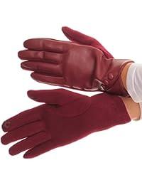 Sakkas Pamb Kunstleder Heather Knit-Taste Vorderes warme Winter Screen-Handschuhe