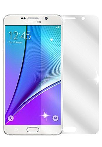 dipos I 2X Schutzfolie klar passend für Samsung Galaxy Note 5 Folie Bildschirmschutzfolie
