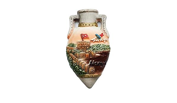 R/éfrig/érateur Aimant Alanya Turquie 3D R/ésine Fait /À La Main Artisanat Touristique Voyage Ville Souvenir Collection Lettre R/éfrig/érateur Autocollant
