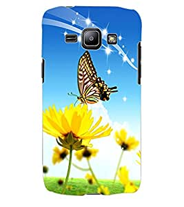 ColourCraft ButterFly Back Case Cover for SAMSUNG GALAXY J1