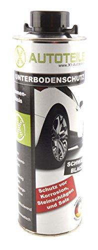 X1 Unterbodenschutz Bitumen schwarz 1000ml UBS Pistolendose 1L
