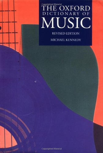 The Oxford Dictionary of Music (Oxford Dance Of Dictionary)