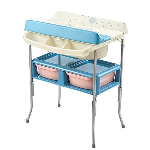 Tables à langer Table à langer bébé bébé bain Unité baignoire, station de couche-culotte de stockage portable Dresser les enfants Garderie Organisateur