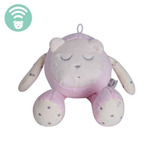 myHummy Maskottchen mit Schlafsensor (Rosa) zum einschlafen und durchschlafen für Babys ab Geburt