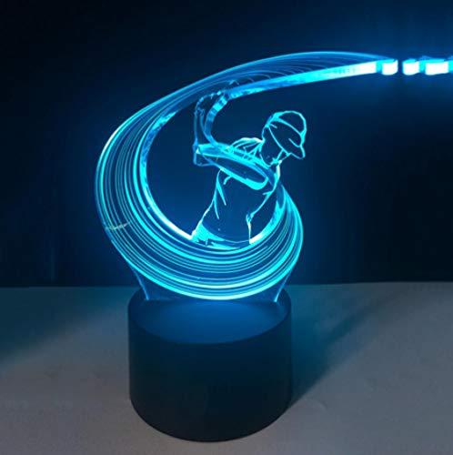 Joplc Schlafzimmer Beleuchtung Led 3D Spielen Golf Schaukel Action Boy Modellierung Tischlampe Touch Schalter Nachtlichter Usb Wohnkultur Geschenke