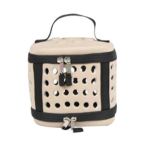 JEELINBORE Tragbar Mini Haustier Transporttasche Bequem Eva Tragetasche Transportbox für Klein Tiere (Aprikose, XS)