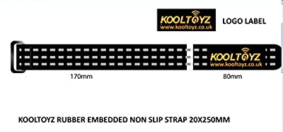 KOOLTOYZ BRANDED BATTERY STRAP V2 250X20mm RUBBERIZED RACING DRONE STRAP