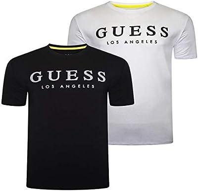 Guess Cn SS Named tee Camiseta, , L para Hombre