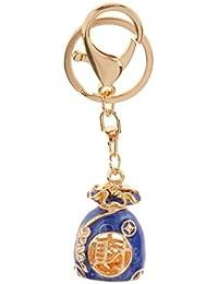 Crystal Rhinestone & Enamel Lucky Purse Charm Keyring Handbag Bag Phone Pendant Chain Fob Car Key Chain Christmas...