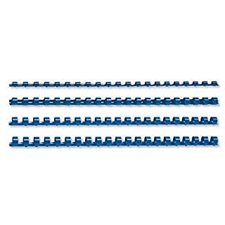5 Star Office Binding Combs Plastic 21 Ring 25 Sheets A4 6mm Blue [Pack 100]