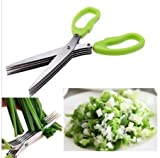 hpk Stainless Steel Kitchen vegetable Scissor Five Layers Chopped Green Onion Meat Vegetables Multifunction Kitchen Accessories