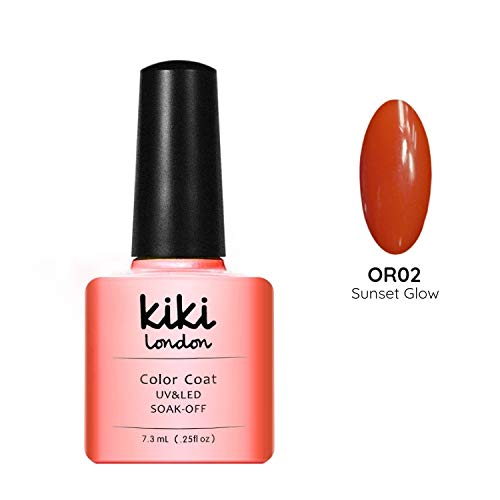 Coucher de soleil Glow - Perfect Summer Orange/UK Couleur Vernis à ongles gel UV/LED - Convient pour G4GADGET Qualité. par Kiki London