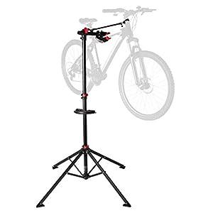 Ultrasport Fahrradmontageständer Expert, robuster Fahrradständer, auch fürs Mountainbike –Reparaturständer für Fahrräder aller Art bis 30 kg, mit sinnvollen Features für die Fahrradreparatur