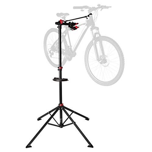 Ultrasport Fahrradmontageständer Expert, robuster Fahrradständer, auch fürs Mountainbike -Reparaturständer für Fahrräder aller Art bis 30 kg, mit sinnvollen Features für die Fahrradreparatur