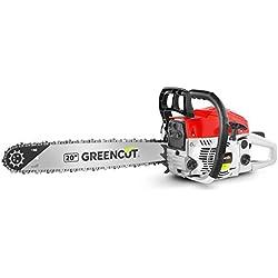 Greencut GS6200 20 Tronçonneuse 62 cc lame 51 cm 7,5 kg