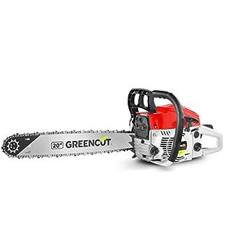 Greencut GS620X – Motosierra de gasolina, 62cc – 3,8cv, espada de 20″