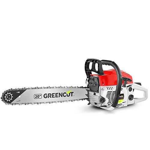 Greencut GS6200 20   Motosierra de gasolina, 62cc   3,8cv, espada de 20