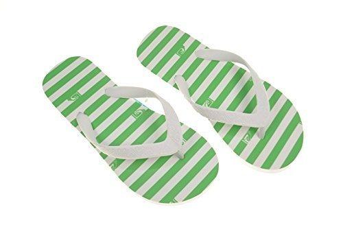 "Jet Set INFRADITO da spiaggia scarpe, Roxy""impy scarpe, verde/bianco"