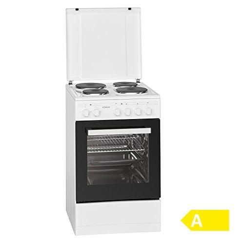 Bomann EH 561 Stand Elektroherd 1.8/50 cm/ 4 Kochstellen/weiß