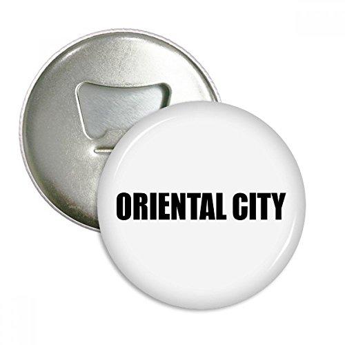 DIYthinker Oriental City Paraguay Name Runde Flaschenöffner Kühlschrankmagnet-Abzeichen-Knopf-3pcs Geschenk Silber