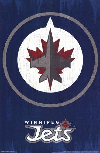 Winnipeg Jets? - Logo 13 Poster Drucken (55,88 x 86,36 cm) Winnipeg Jets-logos