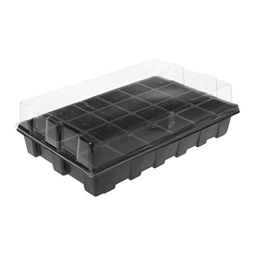 Godet Top (Jiamins Aussaatschalen (24 Löcher), Pflanzentabletten, Gewächshaus für Aussaat, robust, groß und hoch, Behälter aus Kunststoff)