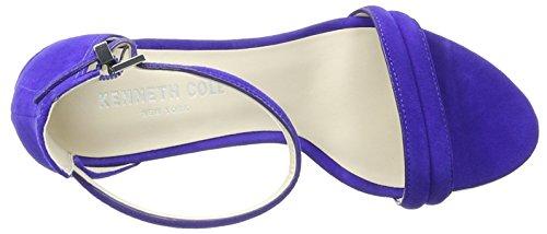 Kenneth Cole Lex, Scarpe Col Tacco con Cinturino a T Donna Blu (Electric Blue 423)