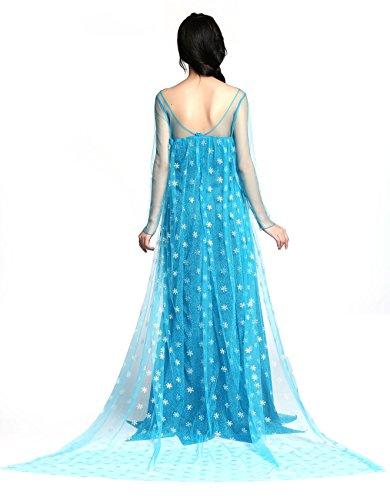 Imagen de disfraz elsa princess para adulto vestido largo frozen dress para mujer disfraz elegante para fiestas alternativa