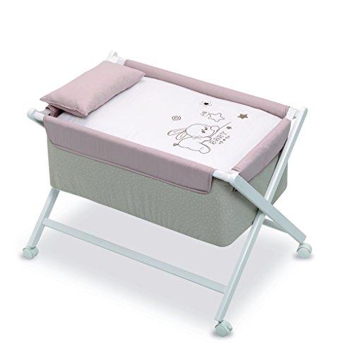 Petite Leinen (Petite Stars Design 28122910–Kinderbett,, Baby, weiß und Leinen)