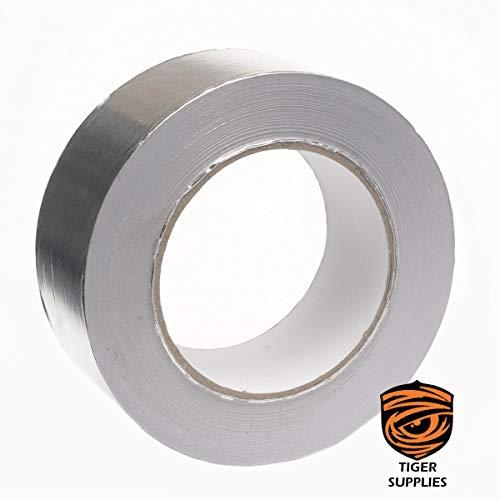 Aluminiumfolie Klebeband – 45 m x 50 mm – Hochwertiges, strapazierfähiges Premium-Aluminium-Klebeband
