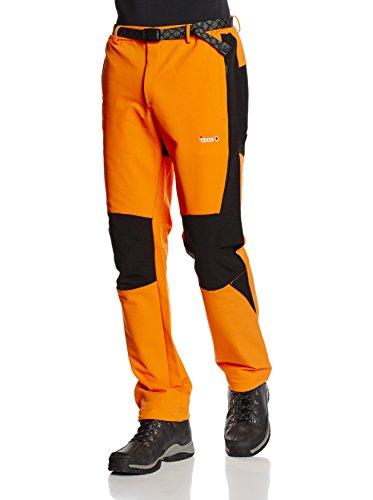 Izas Lim - Pantalón de montaña para hombre, color naranja / negro, talla M