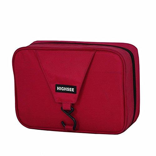 lazutom tragbar groß Kapazität Wasserdicht Travel Buggy Tasche Kulturbeutel Kulturtaschen rot - rot