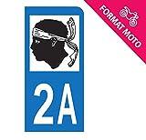 Autocollant Moto immatriculation 2A - Corse du Sud