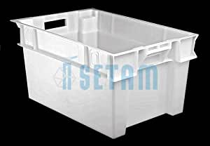 Bac alimentaire plastique blanc 50 litres H300