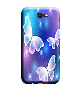 Samsung Galaxy A7-6 (2016 Model) Back Cover Designer 3d printed Hard Case Cover for Samsung A7 2016 Edition (A7 6 Model) by Gismo - Art 3D Butterfly theme for girl