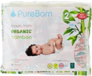 PureBorn Disposable Baby Diapers, Size 2-3 to 6 Kg, 128 Count - Assorted Prints