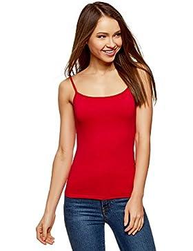 oodji Ultra Mujer Camiseta de Punto con Tirantes Finos
